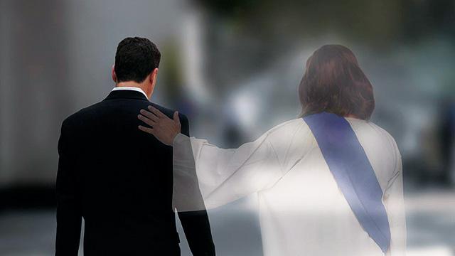 Jesus unterstützt
