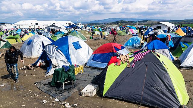 Syrische Flüchtlinge in Griechenland
