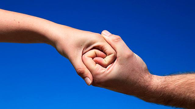 Haltende Hände