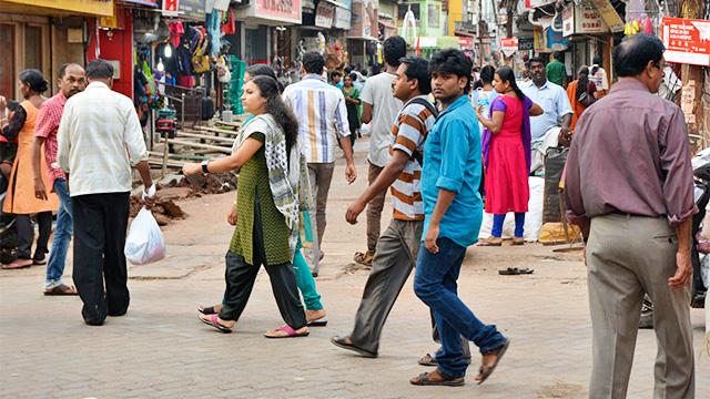 Strassenszene in Kochi, Indien
