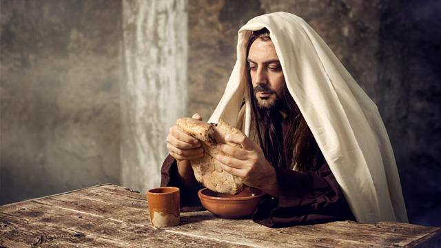 Jesus bricht Brot