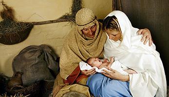 Jesus mit Josef und Maria