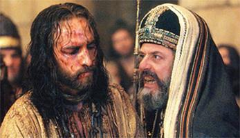 Jesus mit Hohepriester