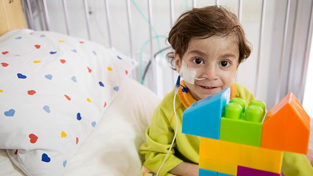 Ein junger Patient im Kinderspital