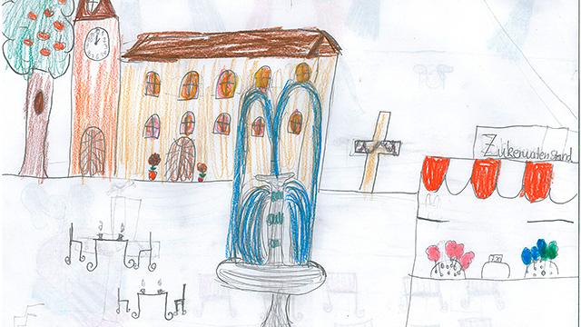 Zeichnung der 8-jährigen Lucy