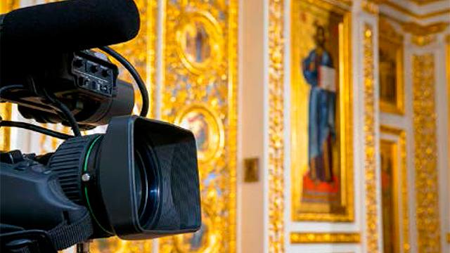 Kamera im Kirchenzimmer