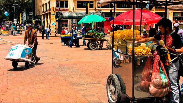 Strassenszene in Bogota