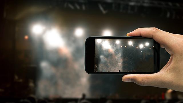 Filmen mit Smartphone