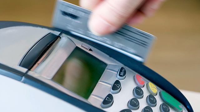 Kreditkarte Lesegerät