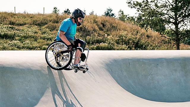 Sport mit Rollstuhl