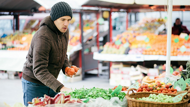 Einkaufen auf dem Markt