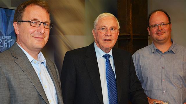 Christoph Blocher und Michel Müller im Gespräch