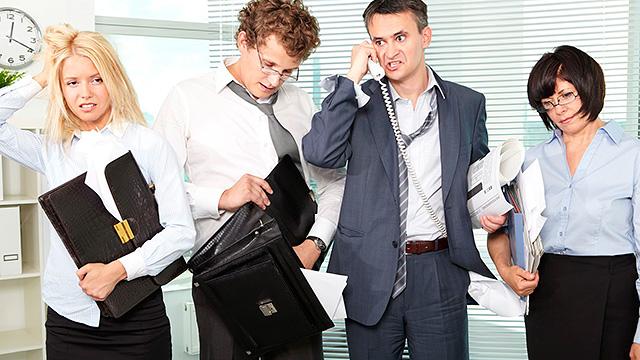 Mitarbeiter im Stress