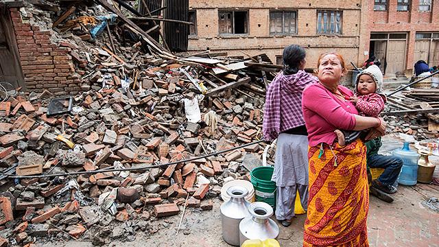 In Kathmandu nach dem Erdbeben