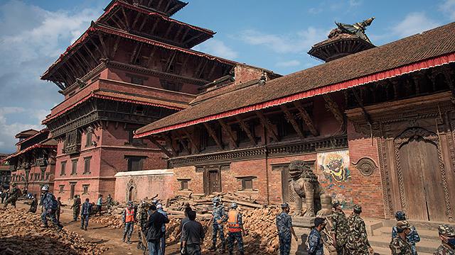 Wiederaufbau in Kathmandu 2015