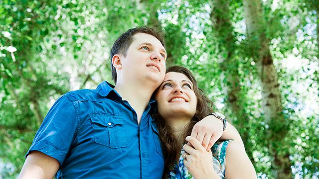 Hoffnungsvolles Paar