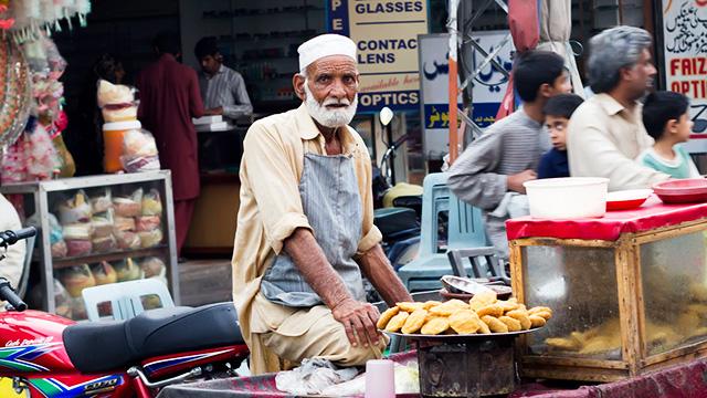Strasssenszene in Lahore
