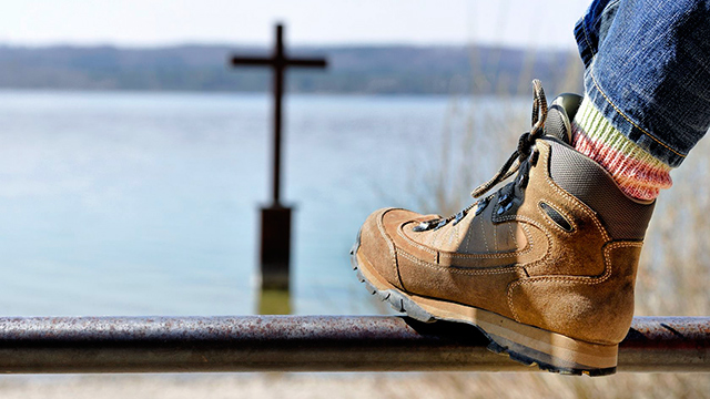 Blick auf Kreuz