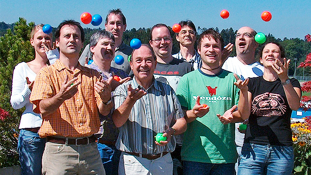Das Team von Radio Life Channel anno 2005