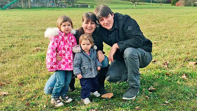 David Rhyner mit Familie