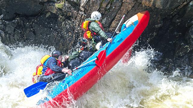 Action auf dem Fluss