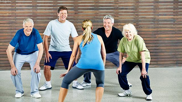 Senioren treiben Sport