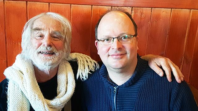 Pfarrer Sieber mit Redaktionsleiter Daniel Rehfeld