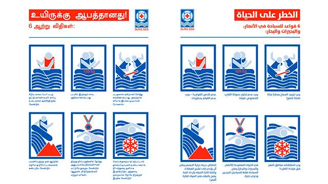 SLRG-Flussregeln Tamilisch und Arabisch