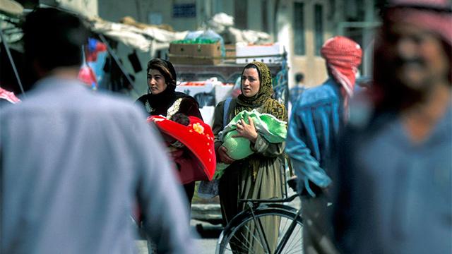 Strassenszene in einer syrischen Stadt