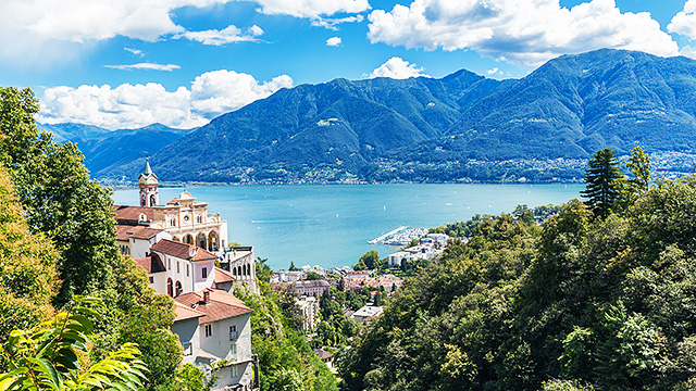 Locarno mit Lago Maggiore