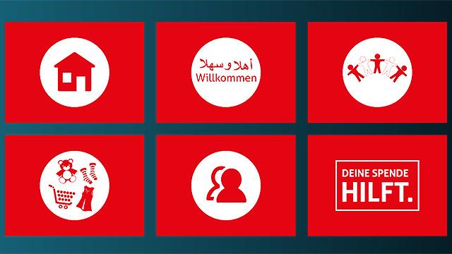 Website «Flüchtlinge helfen»