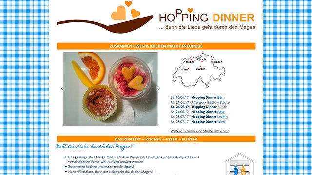 Website «Hopping Dinner»