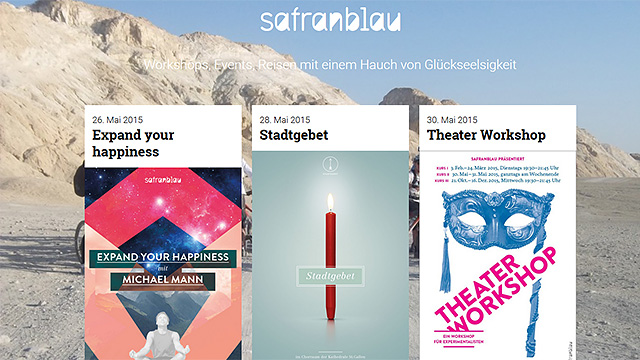 Website «Safranblau»