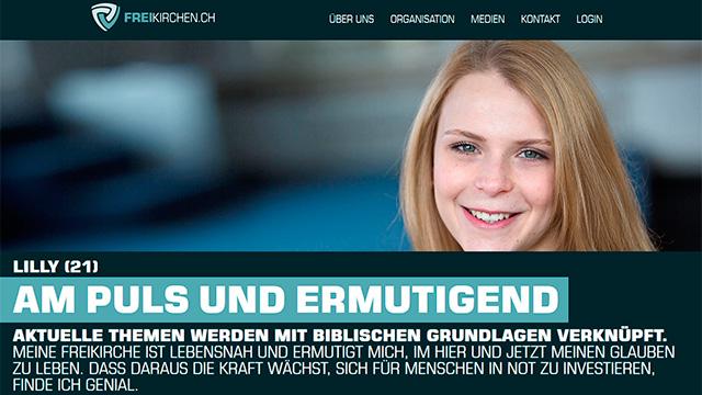 Website des VFG Freikirchen Schweiz