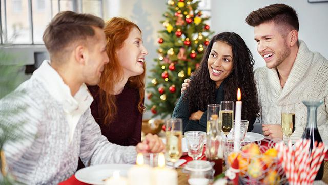 Weihnachten in geselliger Runde