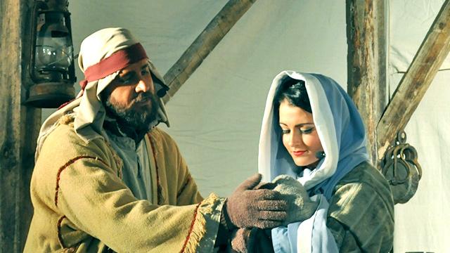Maria mit Jesus und Josef