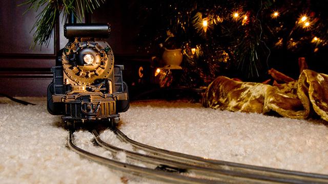 Weihnachten am Bahnhof