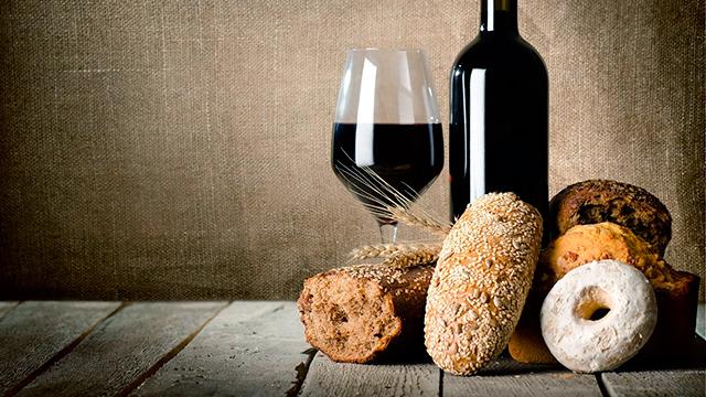 Wein und Brotsorten
